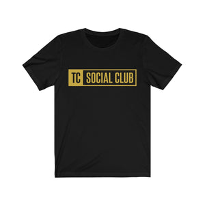 TC Social Club Gold Logo Unisex Jersey Short Sleeve Tee