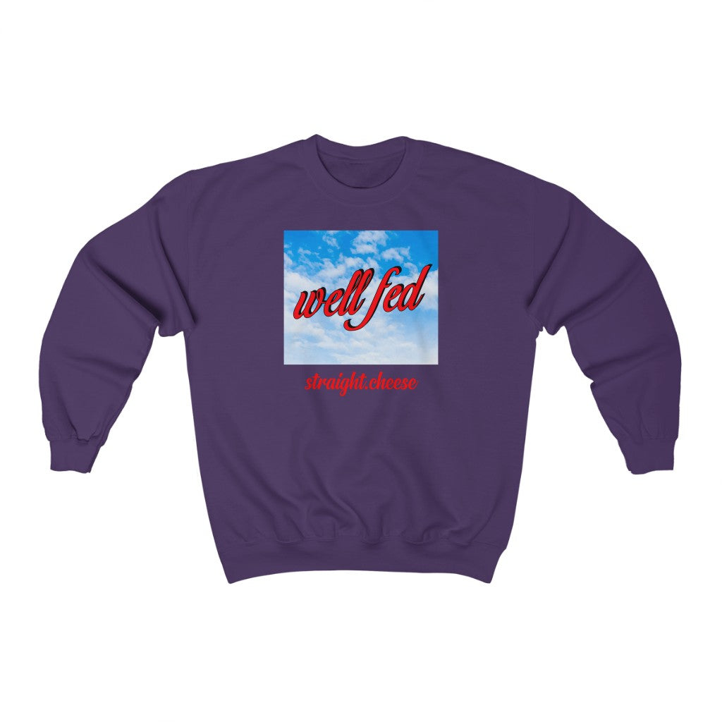 Straight.Cheese Crewneck Sweatshirt