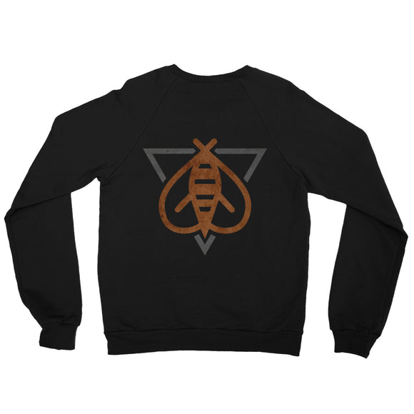 Team Killer Bee Unisex California Fleece Raglan Sweatshirt