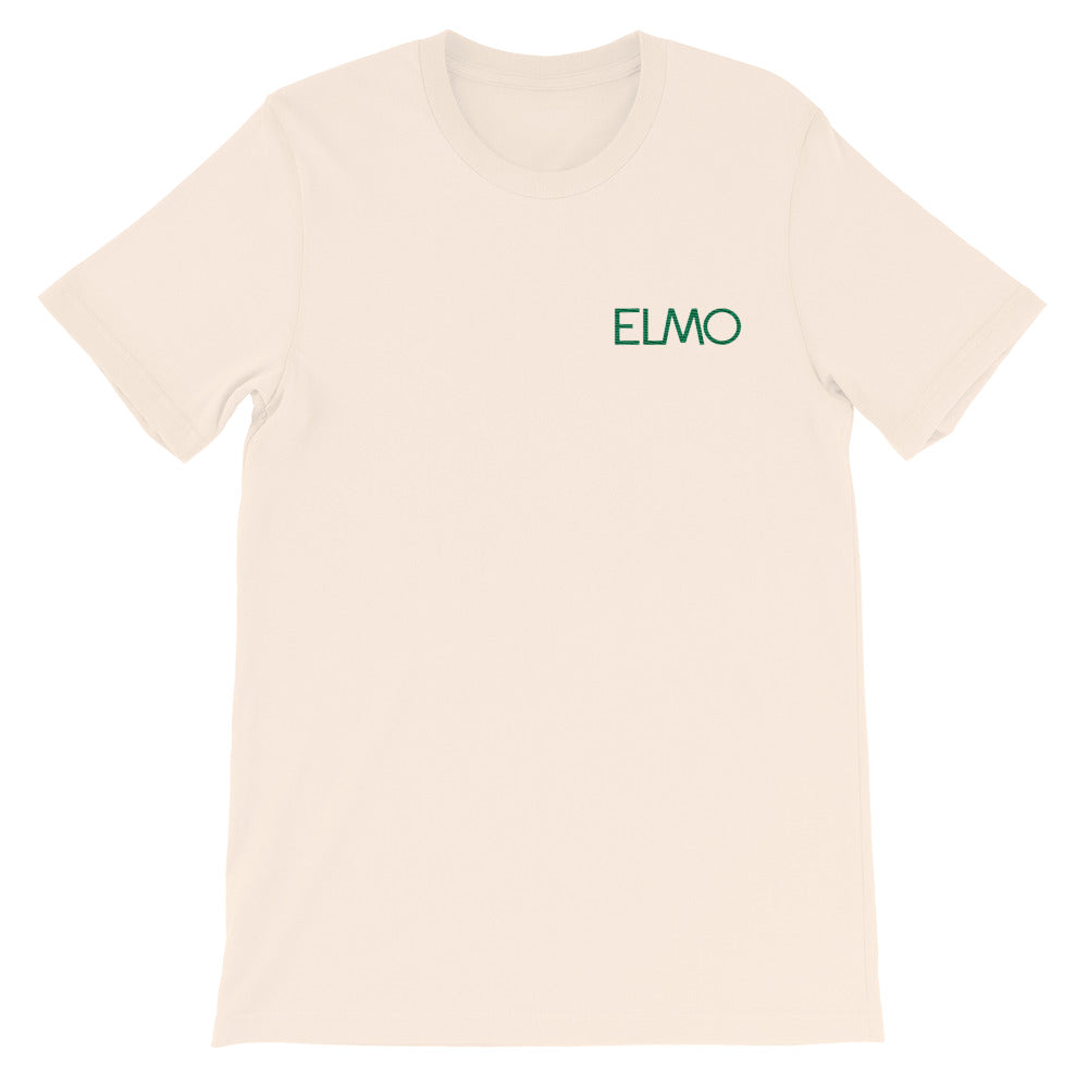 Elmo Green Logo Embroidered Short-Sleeve Unisex T-Shirt