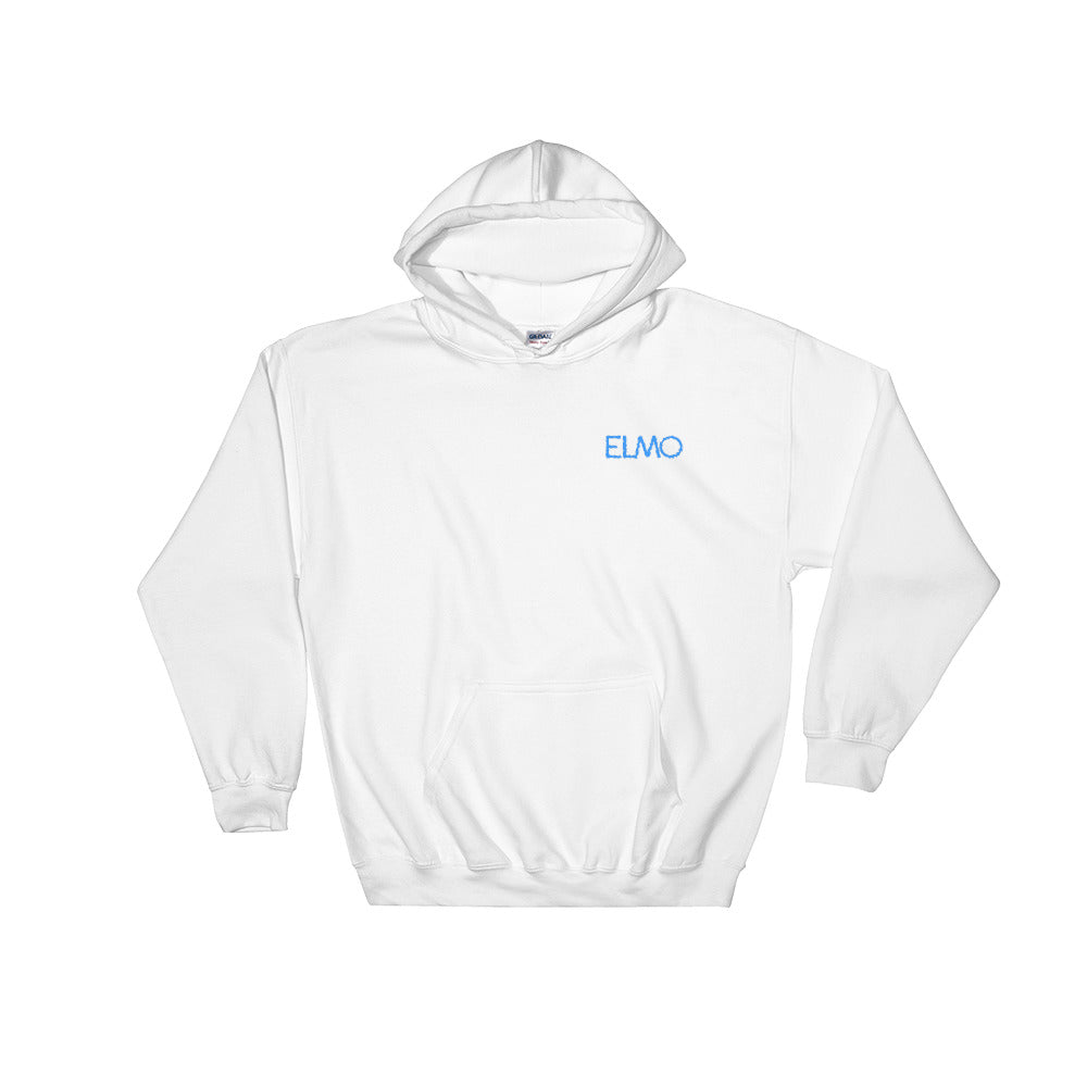Elmo Aqua Logo Embroidered Hooded Sweatshirt