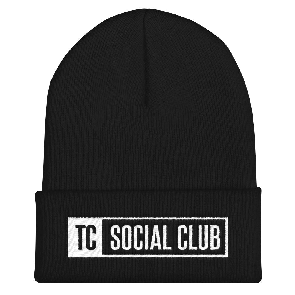 TC Social Club White Logo Beanie