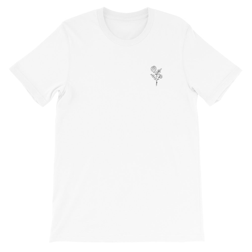 Ava Rose Embroidered Short-Sleeve Unisex T-Shirt