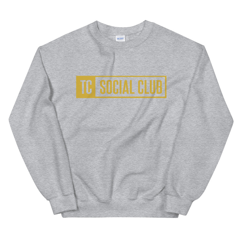 TC Social Club Gold Logo Crewneck Sweatshirt