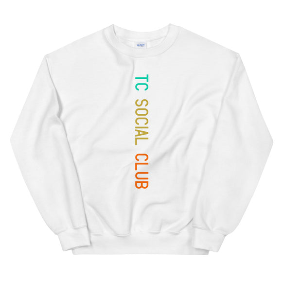 TC Social Club Runway Color Print Crewneck Sweatshirt