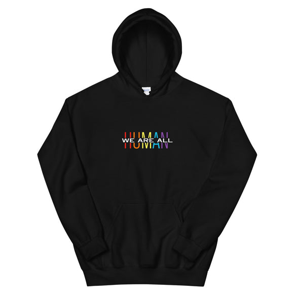 Megan Marie We Are All Human Color Unisex Hoodie
