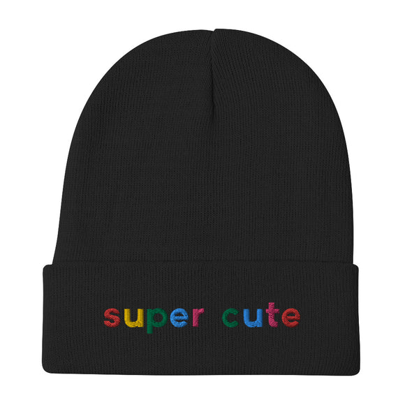 Kendra Rowe Super Cute Embroidered Beanie