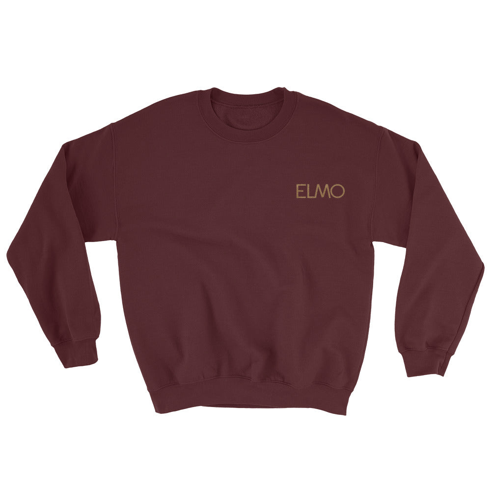 Elmo Old Gold Embroidered Sweatshirt
