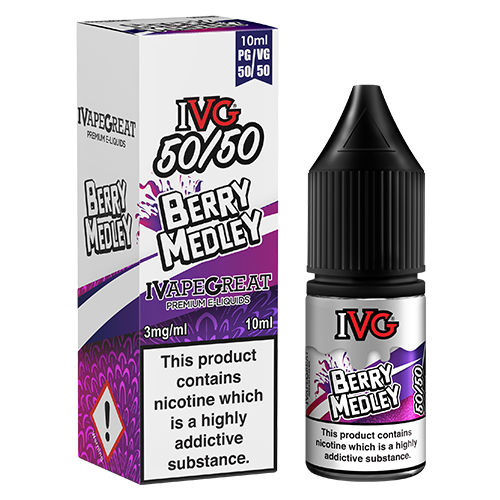 IVG 50/50 - Berry Medley 10ml | Free UK Delivery | Lincolnshire Vapours