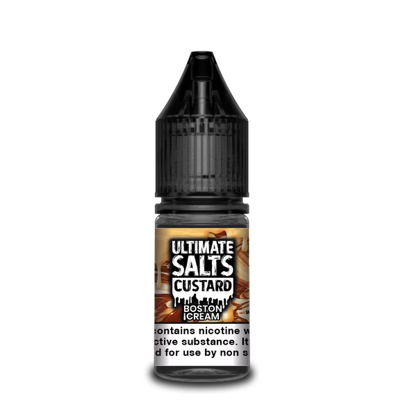 Ultimate Salts - Custard - Boston Cream 10ml - Lincolnshire Vapours