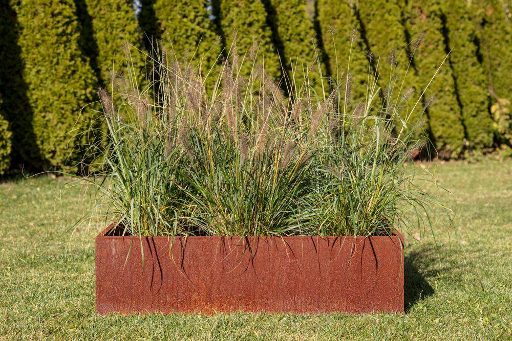 Veradek Metallic Series 4 ft x 4 ft Corten Steel Raised Garden-Outdoor Planters-Veradek-Veradek