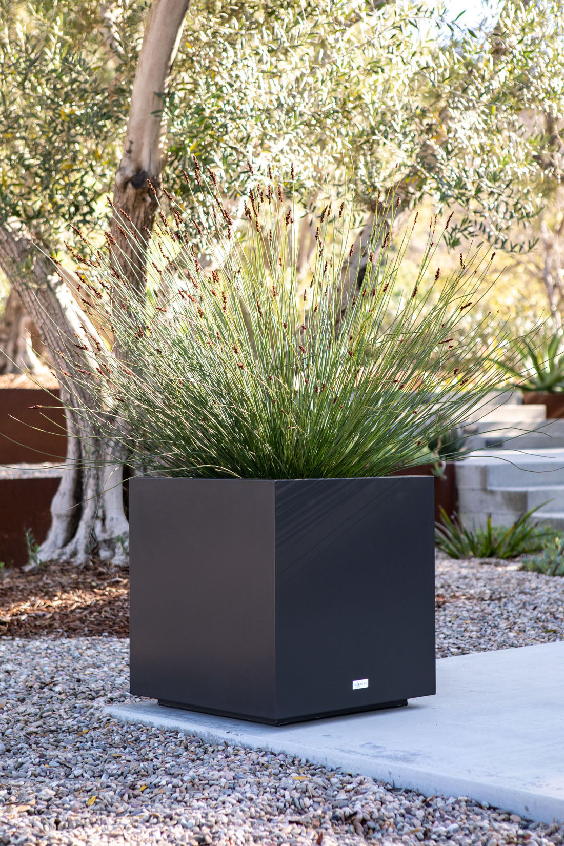 Metallic Series Cube Planter