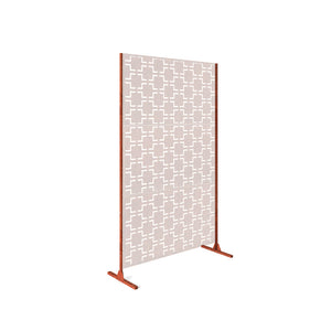 Veradek Metallic Privacy Screen Stand - 3 Panel