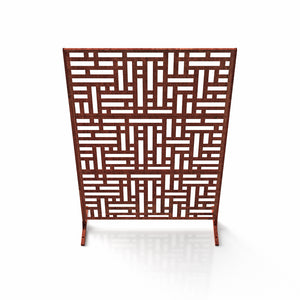 Veradek Corten Steel Screen Set - Blocks