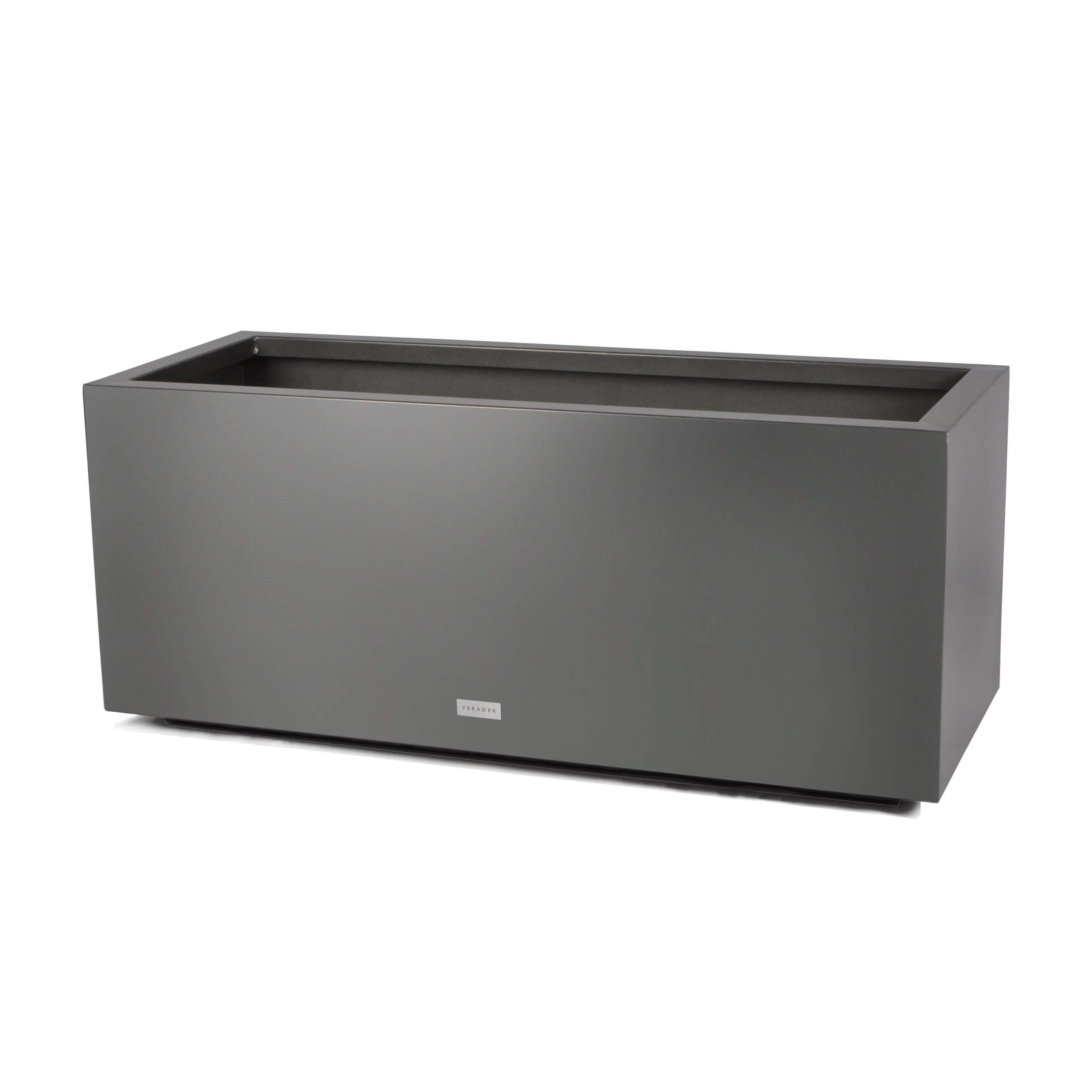Metallic Series Long Box Planter-Outdoor Planters-Veradek-Small-Grey-Veradek