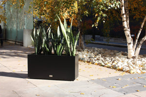 Mettalic Series Long Box Planter, Metal Planter, Metallic Planter, Modern Planter, window box planter, rectangular planter, Outdoor planter