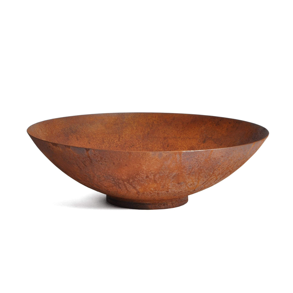 Metallic Series Round Bowl Planter-Outdoor Planters-Veradek-22 Inch-Rust-Veradek