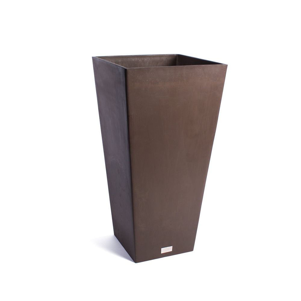 Midland Tall Square Plastic Planter, Plastic Planter, Modern Planter, Outdoor Patio, Indoor