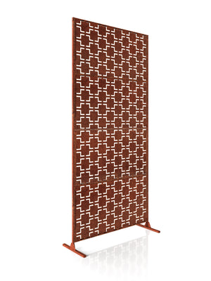 Veradek Corten Steel Screen Set - Quadra