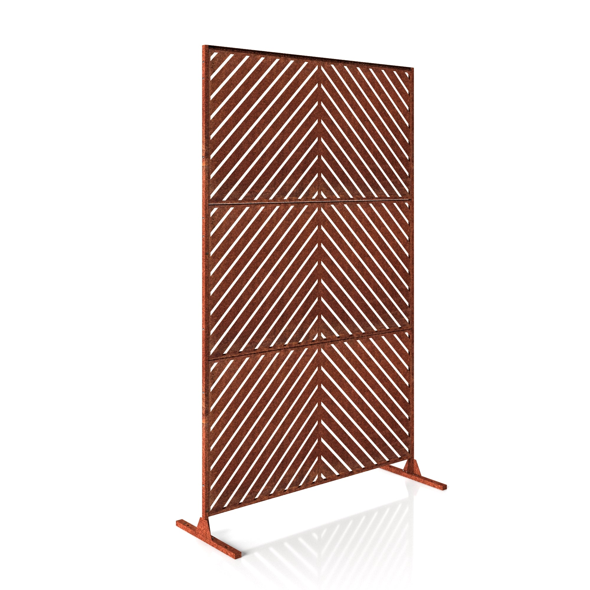 Veradek Corten Steel Screen Set - Arrow