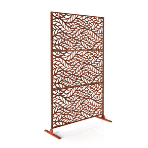 Veradek Corten Steel Screen Set - Flowleaf