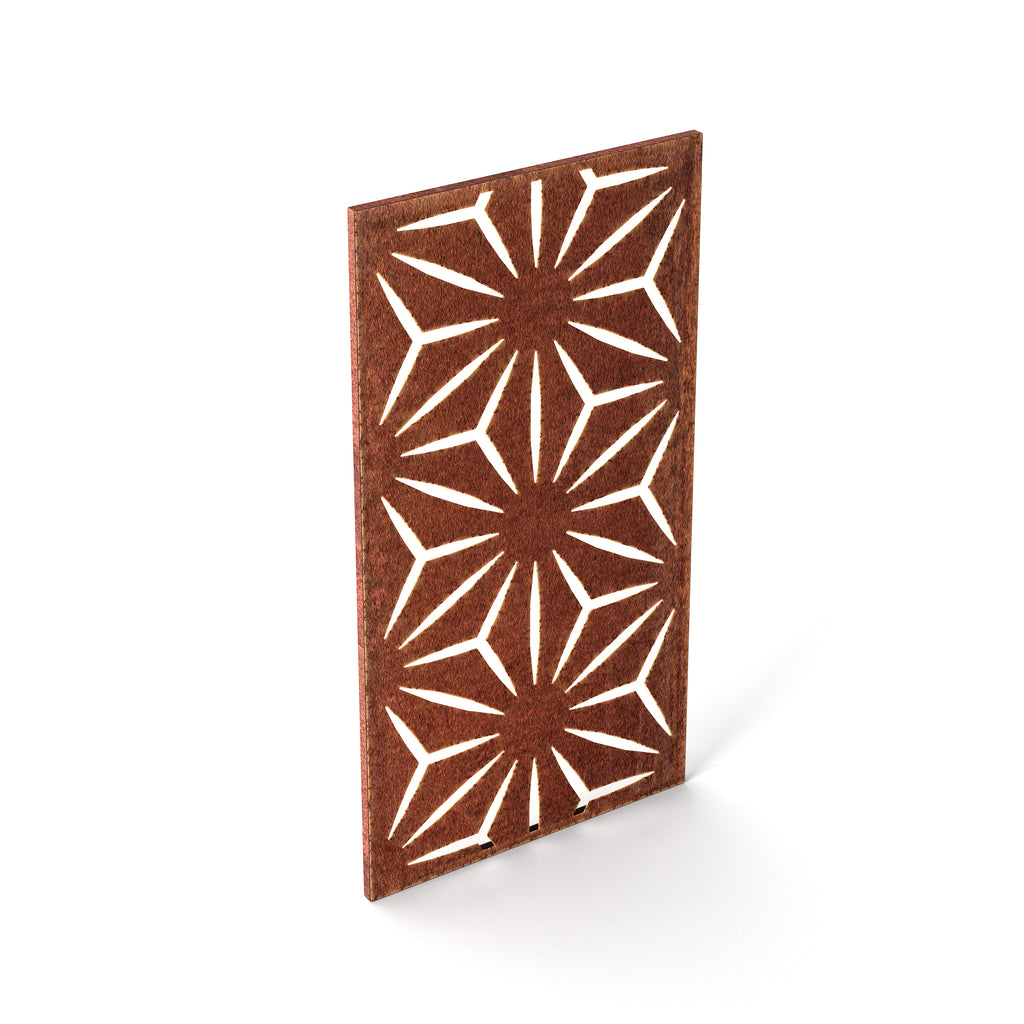 Veradek Corten Steel Screen Panel - Star