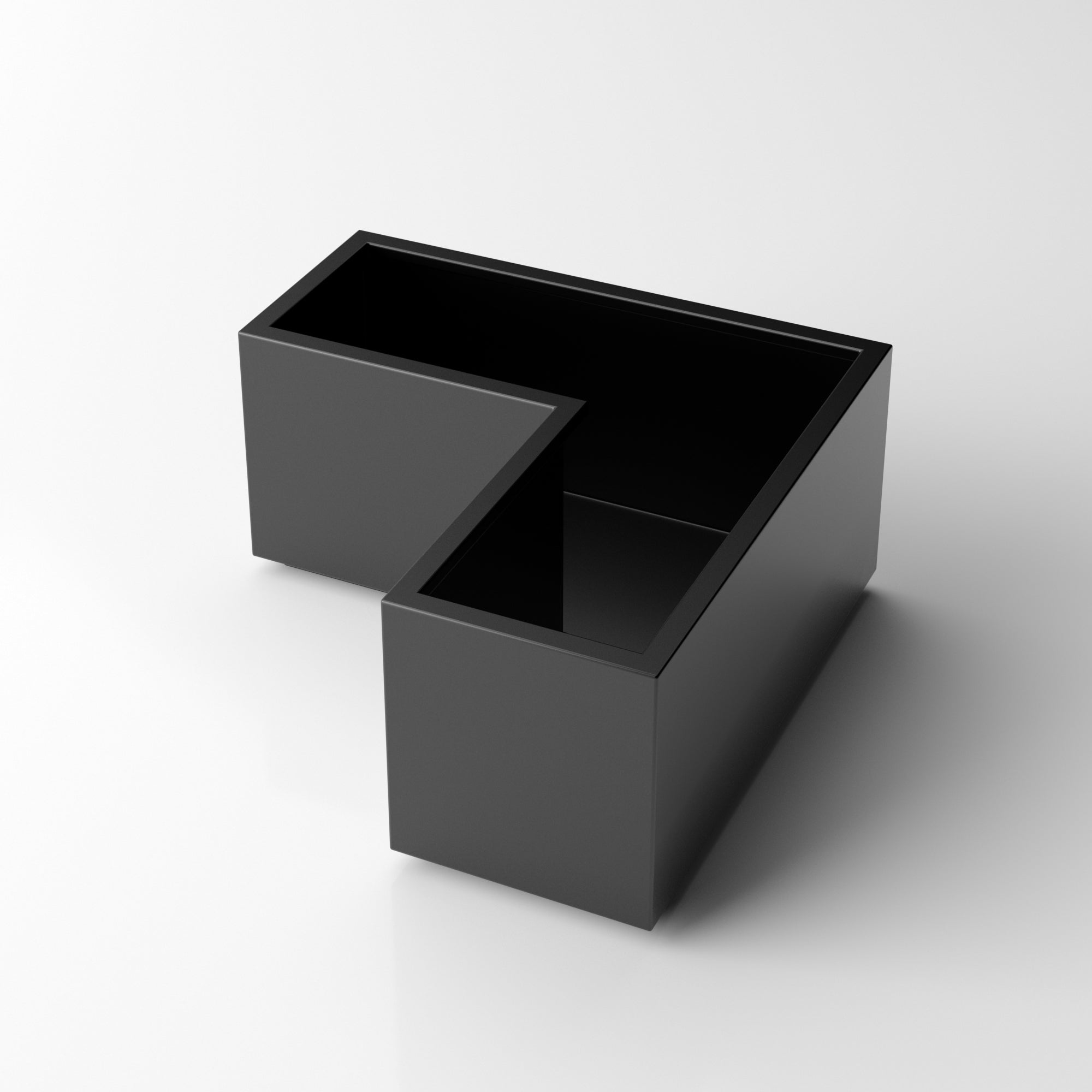 Metallic Series Corner Box Planter