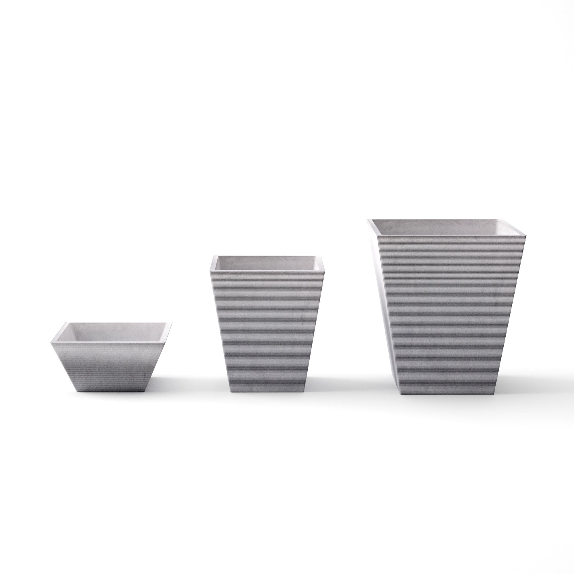 Veradek Pyramid Square 3 PC Planter Set
