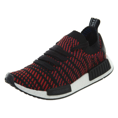 Adidas NMD R1 STLT Primeknit Black/Red Athletic Shoes Mens Style :CQ2385