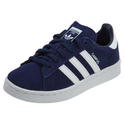 Adidas Campus Dark Blue White Suede Shoes Boys / Girls Style :BY9593
