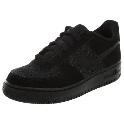 Nike Air Force 1 Lv8 GS Black Suede & Metallic Sneakers Boys / Girls Style :849345