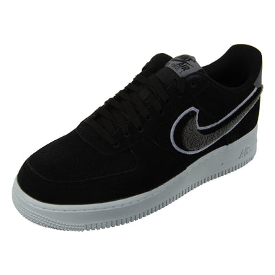 "Nike Air Force 1 07 LV8 ""Chenille Swoosh"" - black/grey Mens Style :823511"