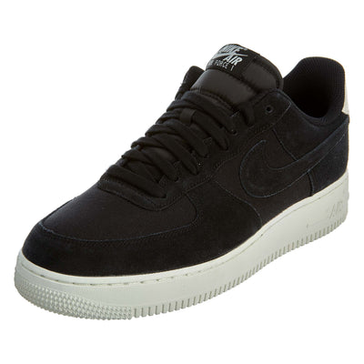 "Nike Air Force 1 '07 ""Suede 'Black'"" black/black-sail Mens Style :AO3835"