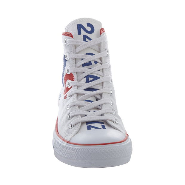 Converse Chuck Tailor All Star Hi Unisex Style : 153838f-WHITE/RED/BLUE