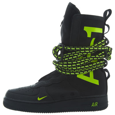 Nike SF Air Force 1 Hi Men's Lifestyle Shoes Black Volt 2018 Mens Style :AA1128