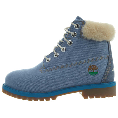 "Timberland 6"" Fabric Boot Big Kids Style : Tb0a1uxt-Blue"