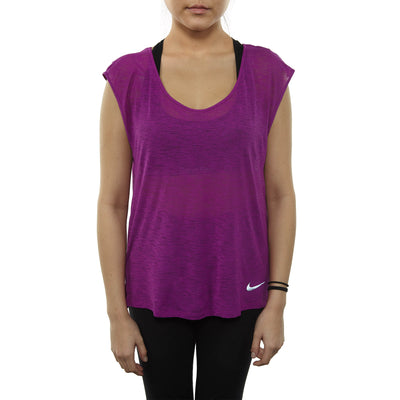 Nike Breathe Short Sleeve Running Top Womens Style : 831784-550