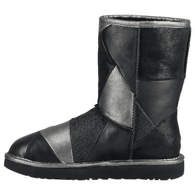 Ugg Classic Glitter Patchwork Womens Style : 1100054-Blk