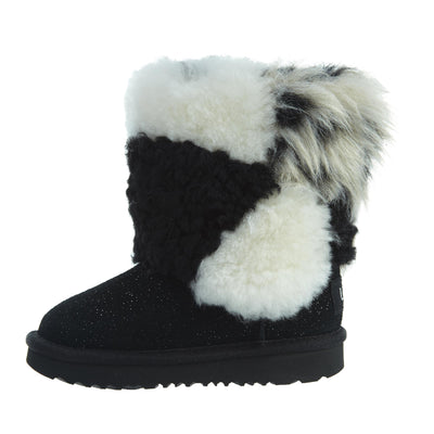 Ugg Classic Short Patchwork Fluff Toddlers Style : 1096929t-Blk