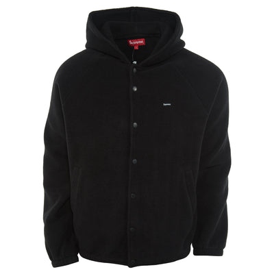 Supreme Polartec Hooded Raglan Jacket Mens Style : Fw18j88-BLACK