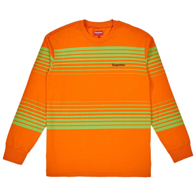 Supreme Fade Stripe Long Sleeve Top Mens Style : Fw18kn74-ORANGE