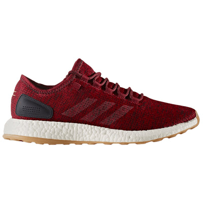 "Adidas Pure Boost ""gum Sole"" - Burgundy Red  Mens Style :BA8895"