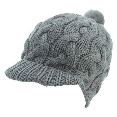 Ugg Cable Visor Hat Womens Style : 66181-Grey