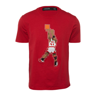 Hudson Digital Goat Hooper S/s Shirt Mens Style : H1052624-Red