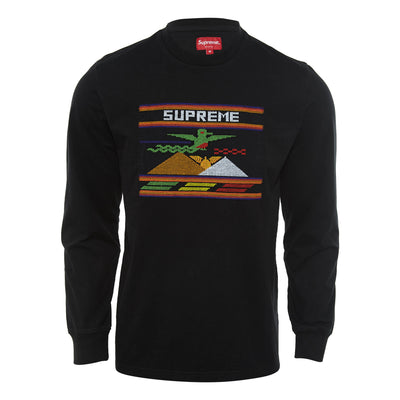 Supreme Needl Epoint Patch L/s Top Mens Style : Ss19kn18