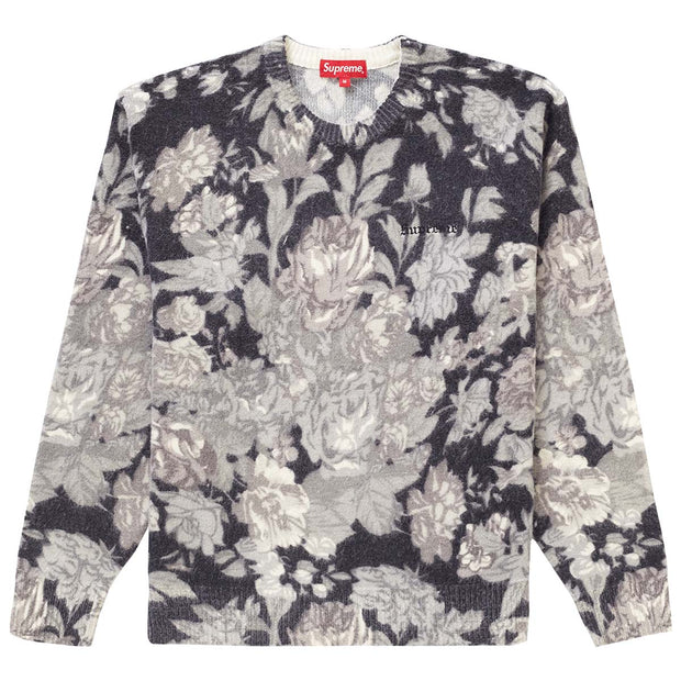 Supreme Printed Floral Angora Sweater Mens Style : Ss19sk4