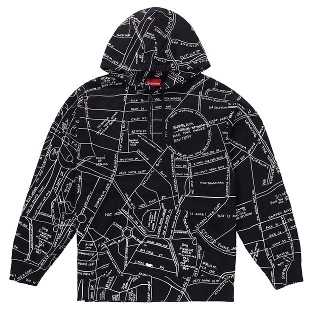 Supreme Gonz Embroidered Map Hooded Sweatshirt Mens Style : Ss198w31