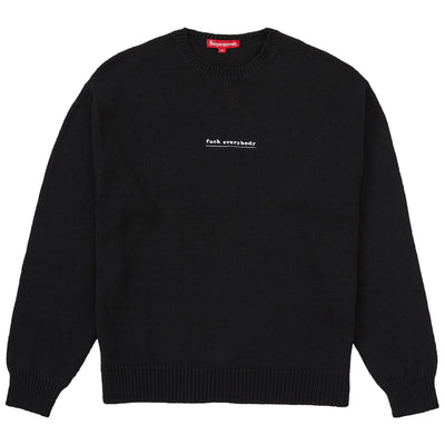 Supreme Fuck Everybody Sweater Mens Style : Ss19sk11