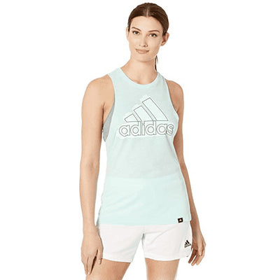 Adidas Tonal Badge Of Sport Muscle Tank Top Womens Style : Dv0516