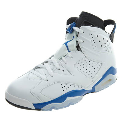 "Air Jordan 6 Retro ""sport Blue"" -  white Mens Style :384664"